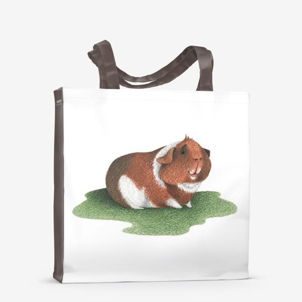 Сумка-шоппер «Морская свинка (американский тедди)»