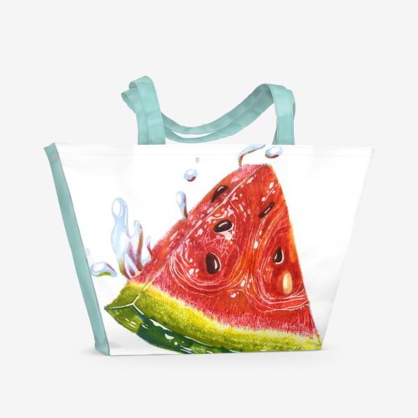 Пляжная сумка «Лето. Арбуз»