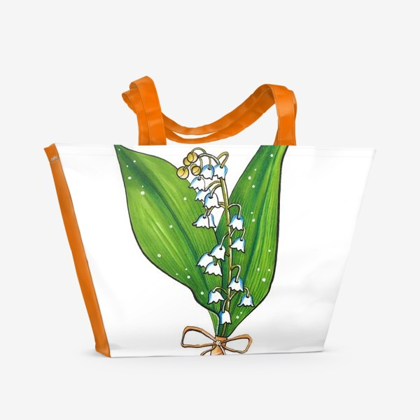 Пляжная сумка «Ландыши»