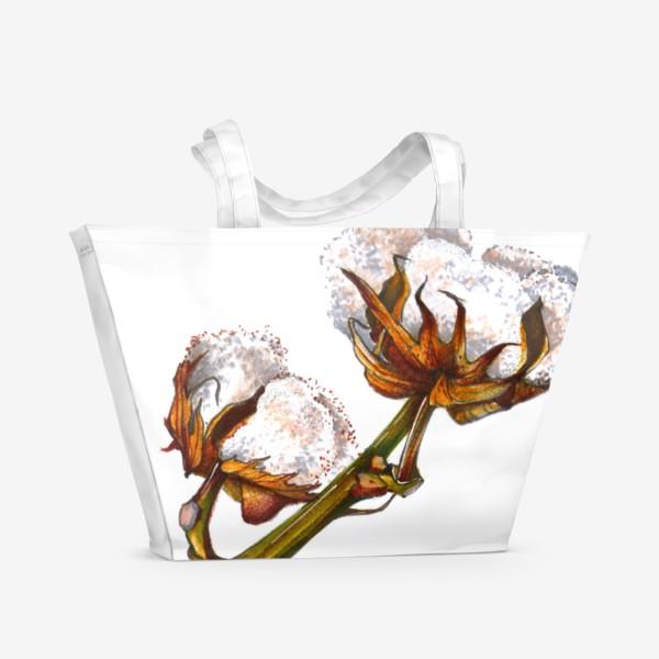 Пляжная сумка «Хлопок Растение Рисунок»