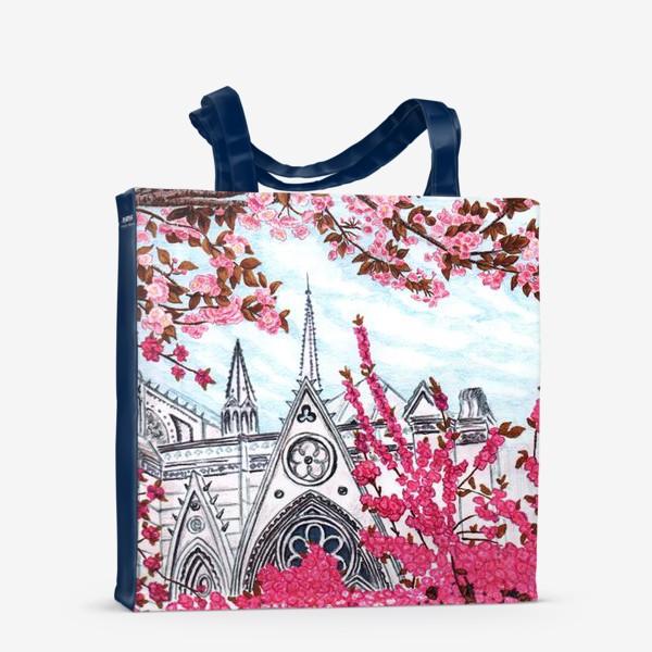 Сумка-шоппер «Цветущий Париж. Нотр-Дам.»