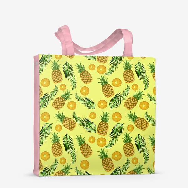 Сумка-шоппер «Паттерн ананасы на желтом»