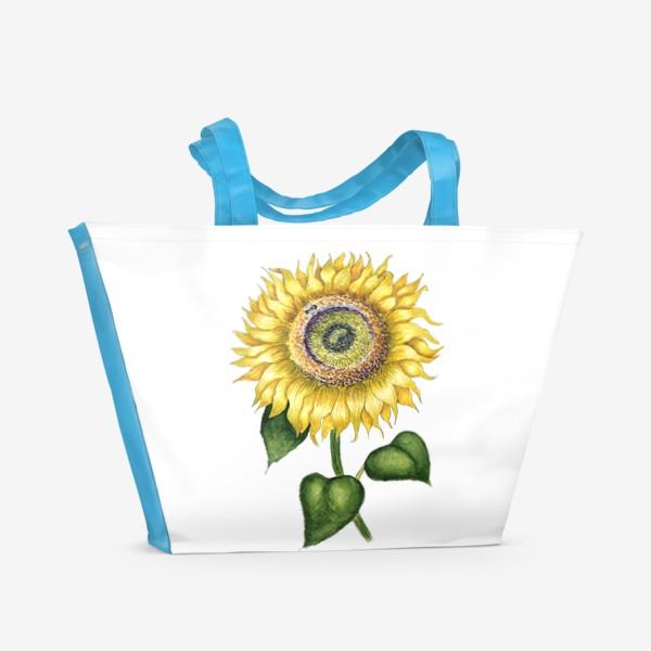 Пляжная сумка «Подсолнух »