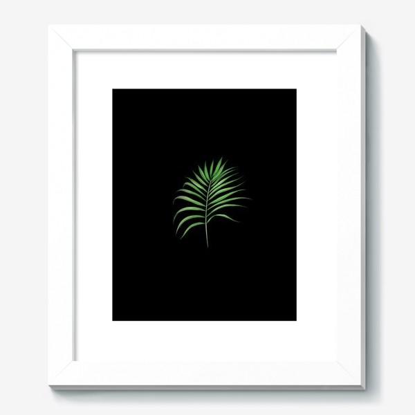 Картина «Лист пальмы на черном фоне»