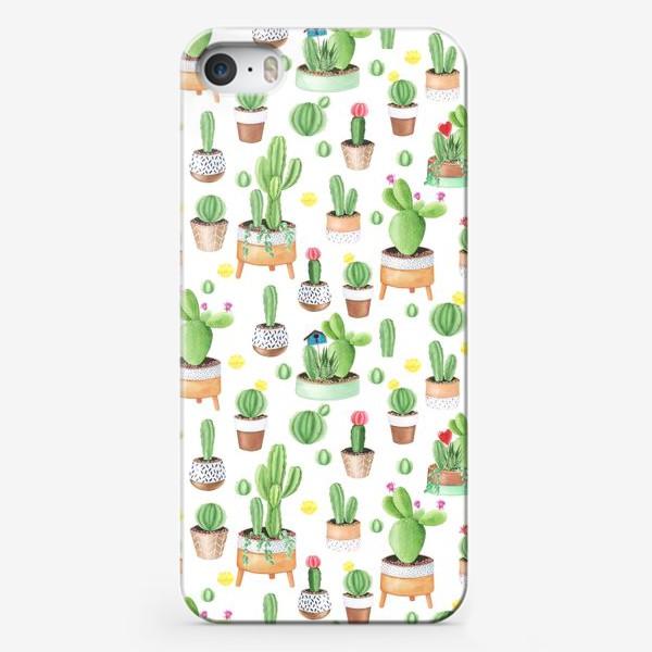 Чехол iPhone «Кактусы в горшках»