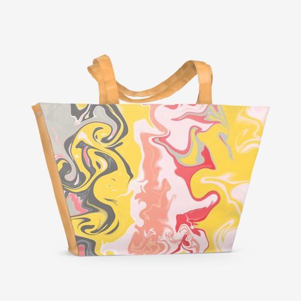 Пляжная сумка «Абстракция лава»