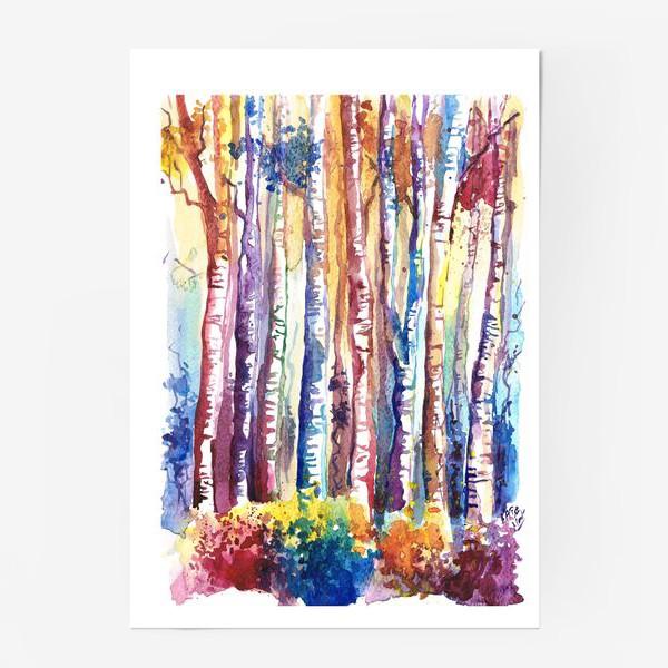 Постер «цветная роща»