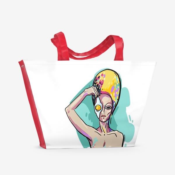 Пляжная сумка «Космический завтрак»
