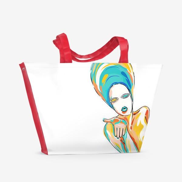Пляжная сумка «Воздушный поцелуй»