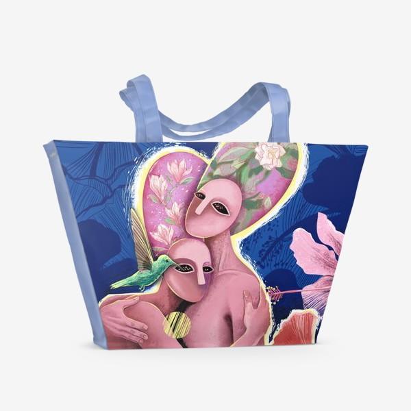 Пляжная сумка «Сообщение от колибри»