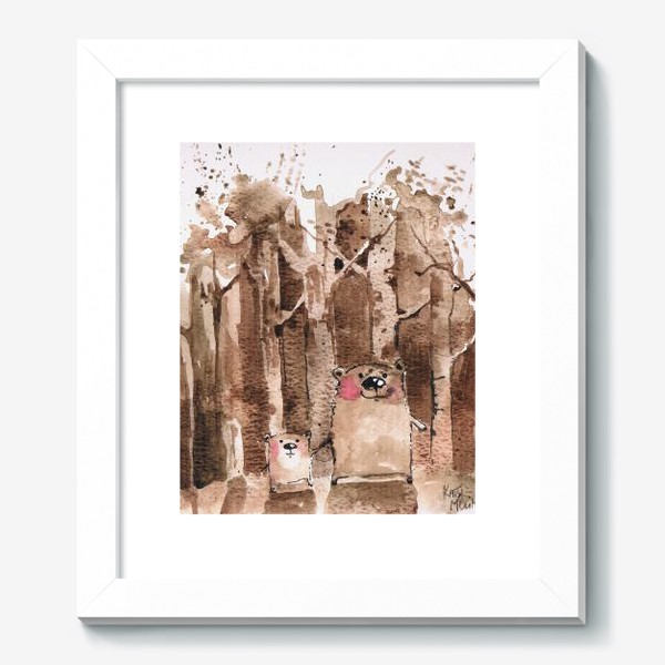 Картина «Мишки в бору»