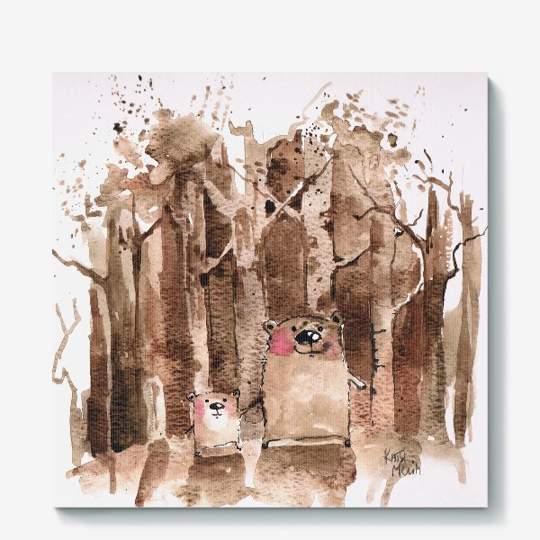 Холст «Мишки в бору»