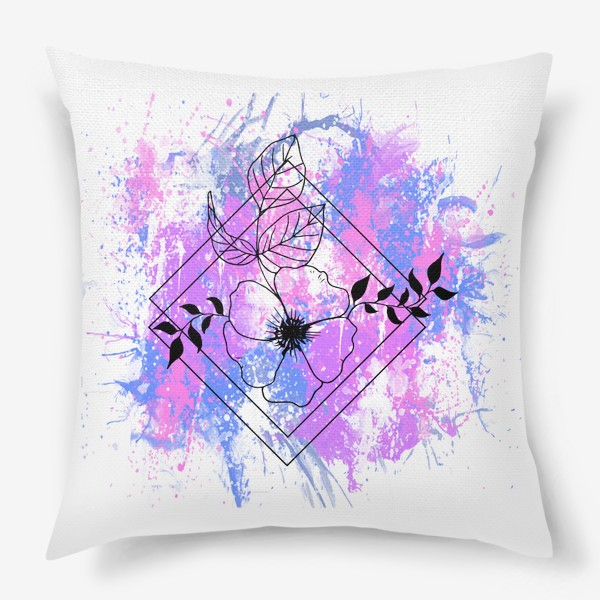 Подушка «Брызги акварели»