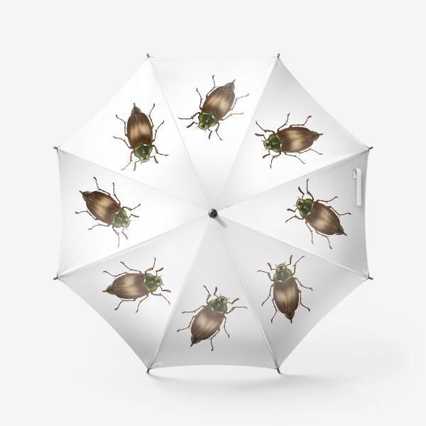 Зонт «Жук - талисман. На удачу. Минимализм »