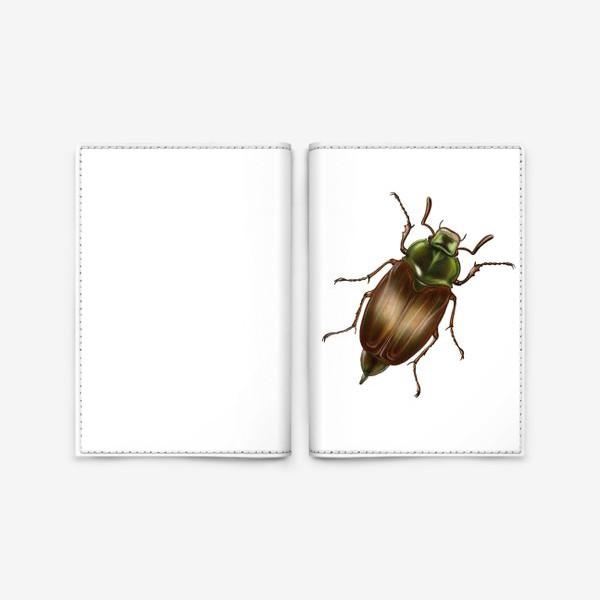 Обложка для паспорта «Жук - талисман. На удачу. Минимализм »