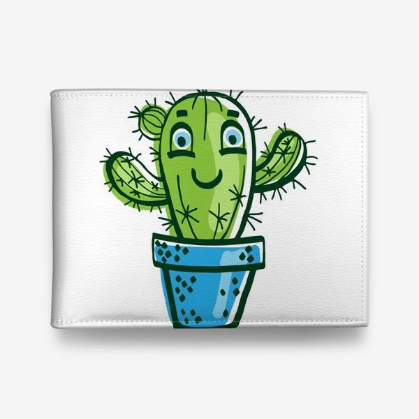 Кошелек «Милый мультяшный кактус в горшке»