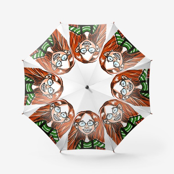 Зонт «Счастливая девочка »