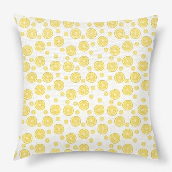 Подушка «fruit pattern with lemons»