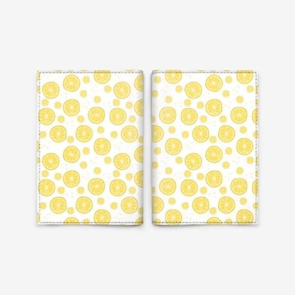 Обложка для паспорта «fruit pattern with lemons»