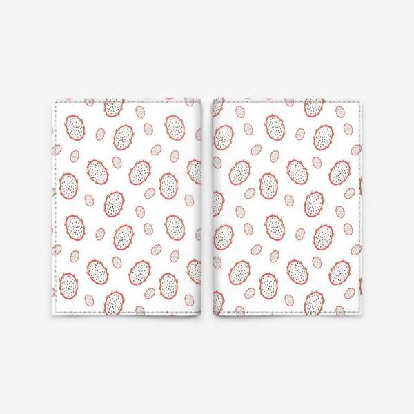 Обложка для паспорта «fruit pattern with dragon fruits»