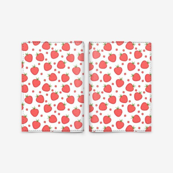 Обложка для паспорта «pattern with strawberries»