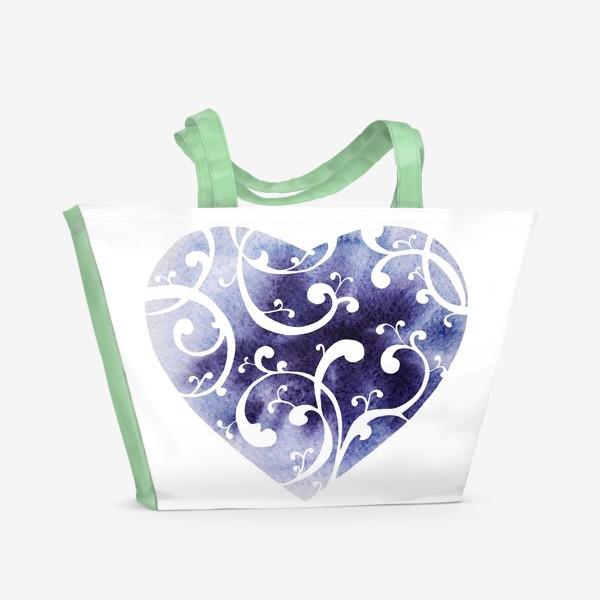 Пляжная сумка «Чернильное сердце»