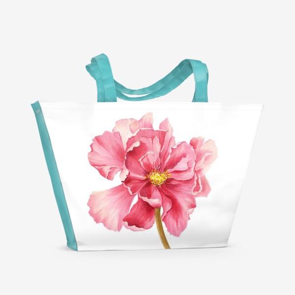 Пляжная сумка «Coral peony»
