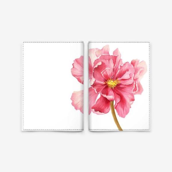 Обложка для паспорта «Coral peony»