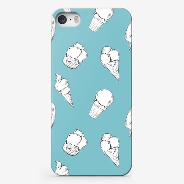 Чехол iPhone «Мороженое бирюзовое»