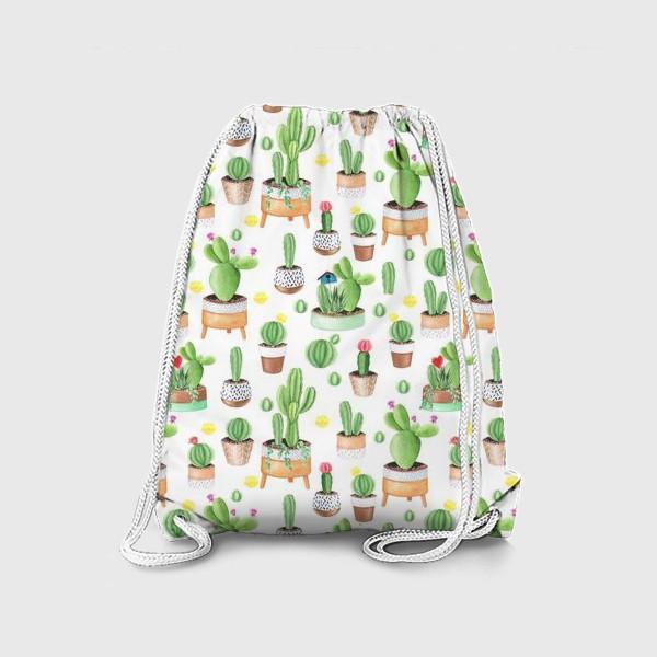 Рюкзак «Кактусы в горшках»