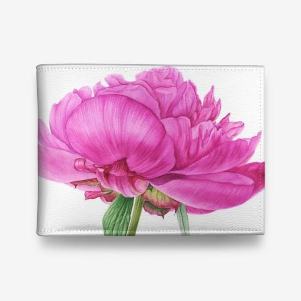Кошелек «Яркий розовый пион»