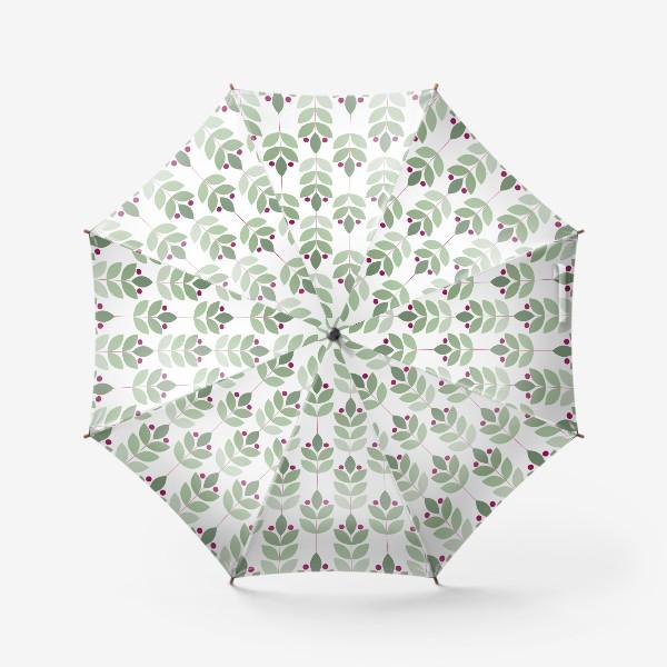 Зонт «Ветки и ягоды в скандинавском стиле»