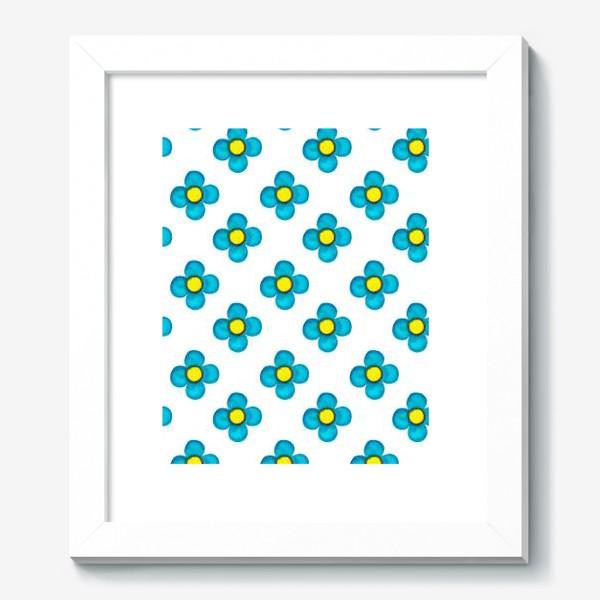 Картина «Паттерн Голубые цветочки»