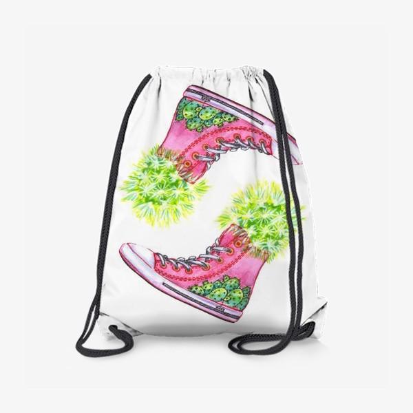 Рюкзак «кеды с кактусами»