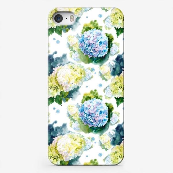 Чехол iPhone «паттерн с гортензиями»