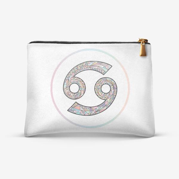 Косметичка «РАК знак зодиака пастельный»