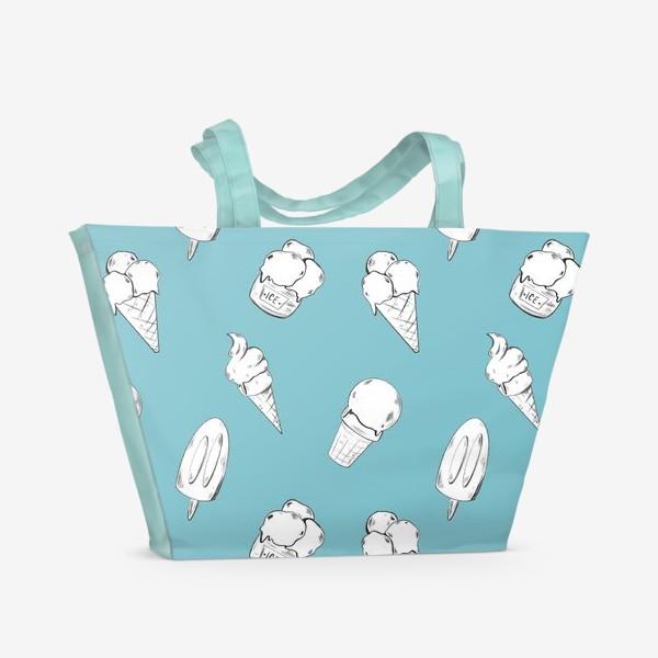 Пляжная сумка «Мороженое бирюзовое»