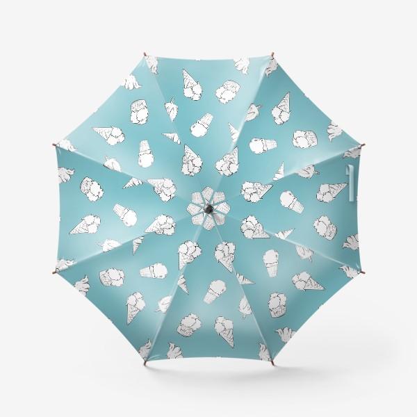 Зонт «Мороженое бирюзовое»