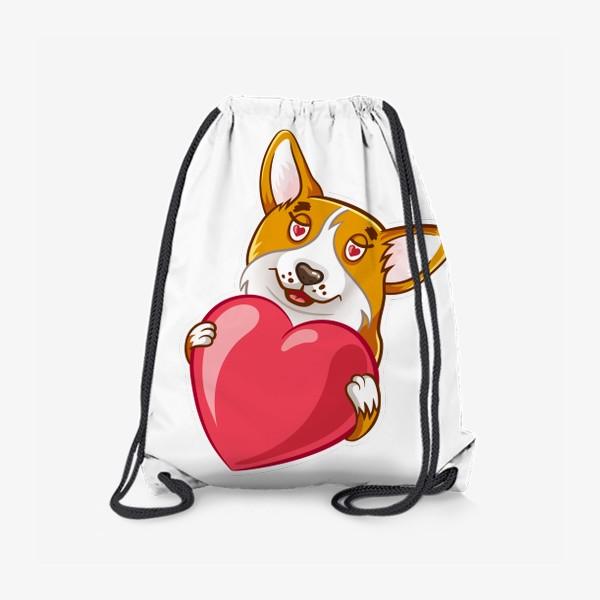 Рюкзак «Влюбленный корги»