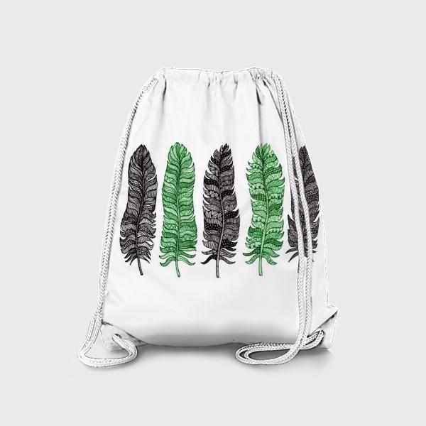 Рюкзак «Перышки в графике»