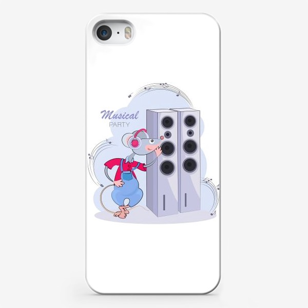 Чехол iPhone «Мышонок меломан. Музыкальная вечеринка»