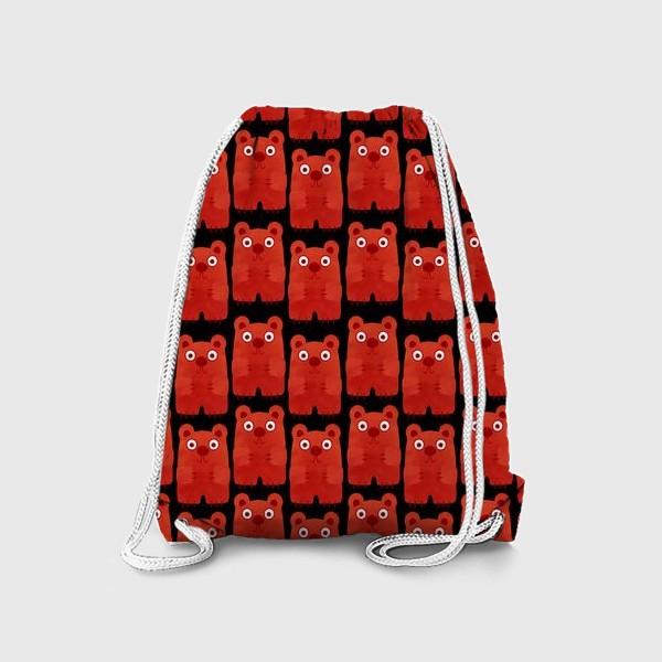 Рюкзак «Бурые мишки паттерн»