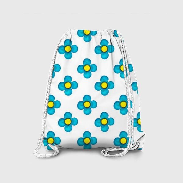 Рюкзак «Паттерн Голубые цветочки»