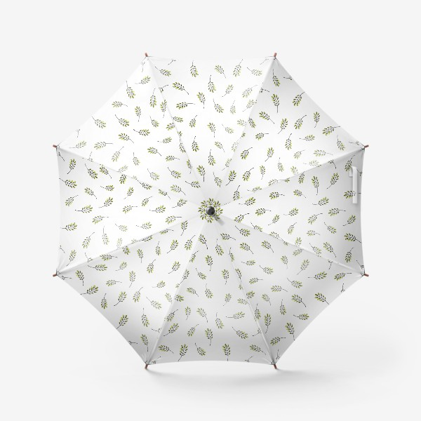 Зонт «Паттерн с веточками»