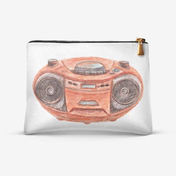 Косметичка «Оранжевый магнитофон»