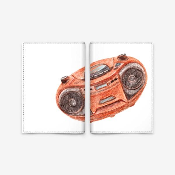 Обложка для паспорта «Оранжевый магнитофон»