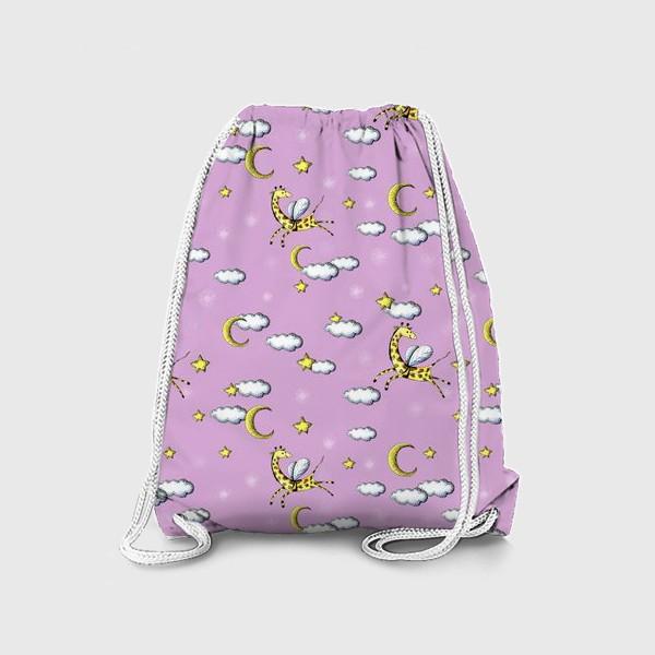 Рюкзак «Паттерн детский с жирафами»