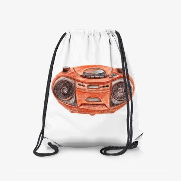 Рюкзак «Оранжевый магнитофон»