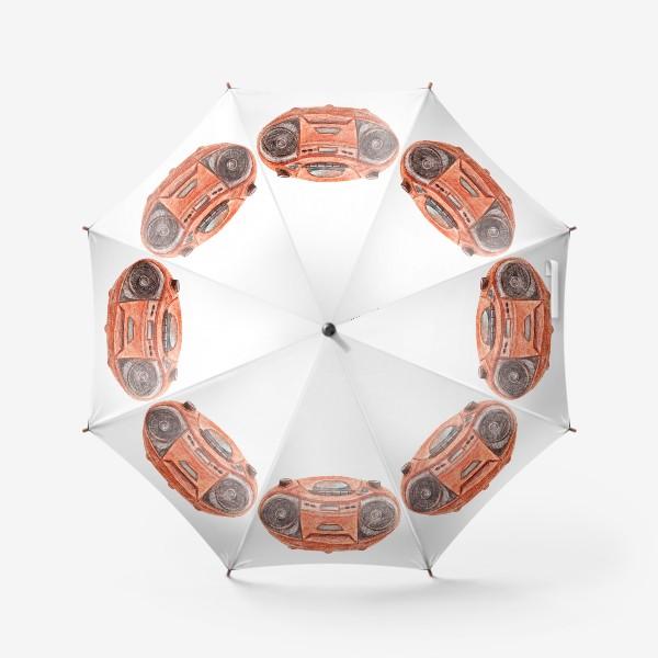 Зонт «Оранжевый магнитофон»