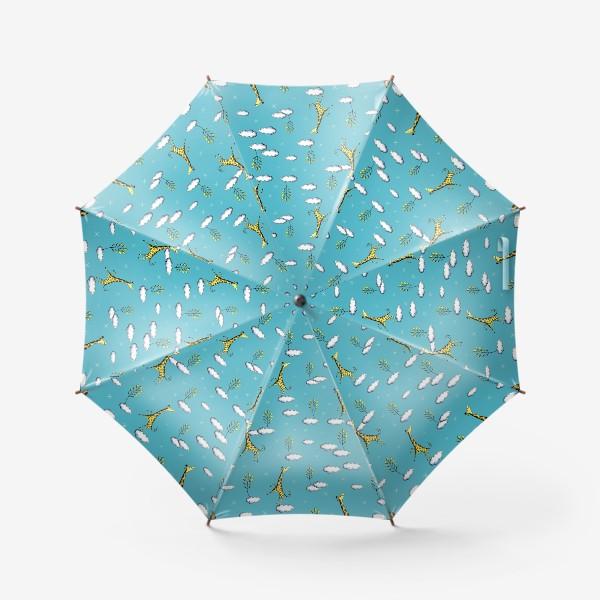 Зонт «Жирафы в облаках на голубом»